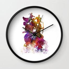 Avenger 02 in watercolor Wall Clock