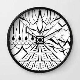 Land, Sea, Sky, and Mountains Tile Wall Clock