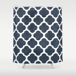 navy clover Shower Curtain
