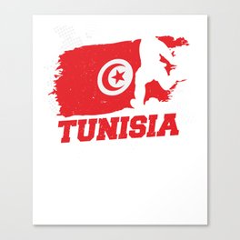 Football Worldcup Tunisia Tunisian Soccer Team Sports Footballer Rugby Gift Canvas Print