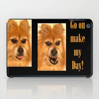 pomeranian iPad Cases featuring Pomeranian dog (slightly distorted like her personality) lol by Bruce Stanfield