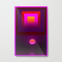 Pink Sun meets Pink Quatro Metal Print