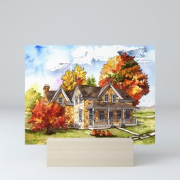 October on the Farm Mini Art Print