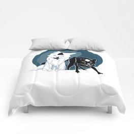 Yin and Yang foxes Comforters