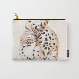 Cute Stretching Bengal Kitten Carry-All Pouch