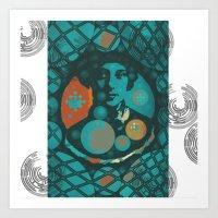 eugenia loli Art Prints featuring Eugenia by Wickersham Studios
