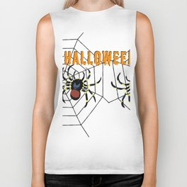 Halloween two big Spider Biker Tank