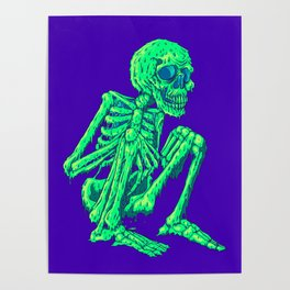 Melty Skelty Poster