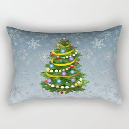 Christmas tree & snow Rectangular Pillow