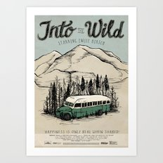 Into The Wild Film Poster Art Print