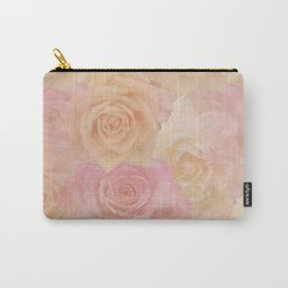 Pastel painterly roses Carry-All Pouch