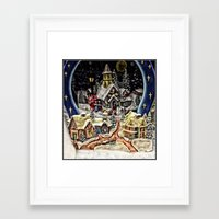 starry night Framed Art Prints featuring Starry,Starry Night by Catherine1970