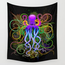 Octopus Psychedelic Luminescence Wall Tapestry