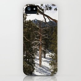 Snowy scene San Jacinto Peak Palm Springs iPhone Case