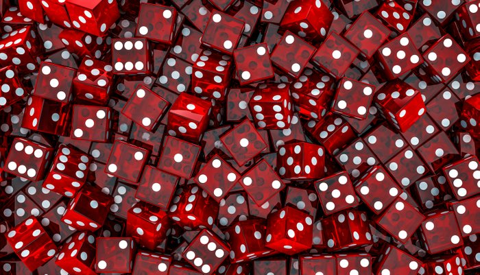 Red dice Pillow Sham
