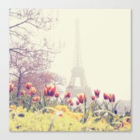 paris Canvas Prints featuring Paris by Gabriela Da Costa