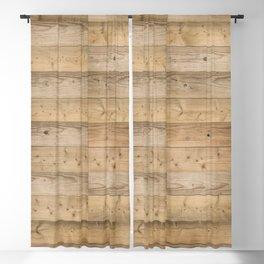 Wood Planks Light Blackout Curtain
