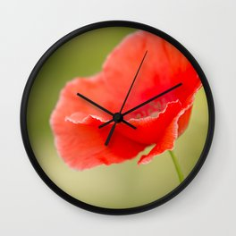 Miss you so much Red Poppy #decor #society6 Wall Clock