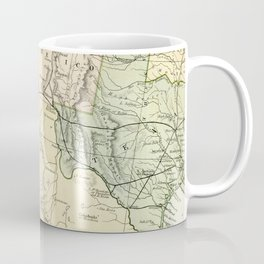 Vintage Map of the South West Of The United States Coffee Mug