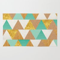 triangles Area & Throw Rugs featuring Triangles by Cat Coquillette