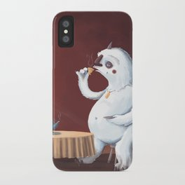 the yeti came for tea iPhone Case