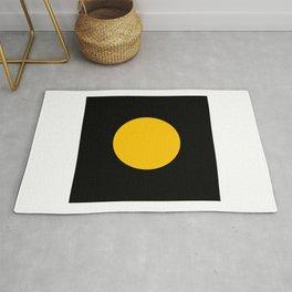 Light in the Dark | Yellow Circle Rug