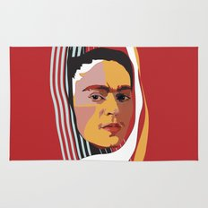 Abstract Frida Kahlo Rug
