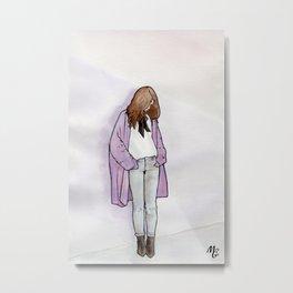 Cozy Cardigan Metal Print