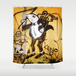 frog in tux Shower Curtain