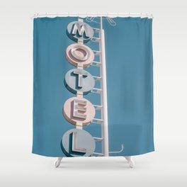 Motel signage Shower Curtain