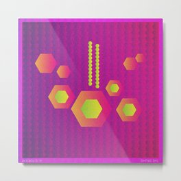 Music in Monogeometry : The Drums Metal Print