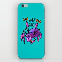 workout iPhone & iPod Skins featuring Workout Spider by Artistic Dyslexia