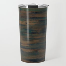 Beautifully patterned stained wood Travel Mug