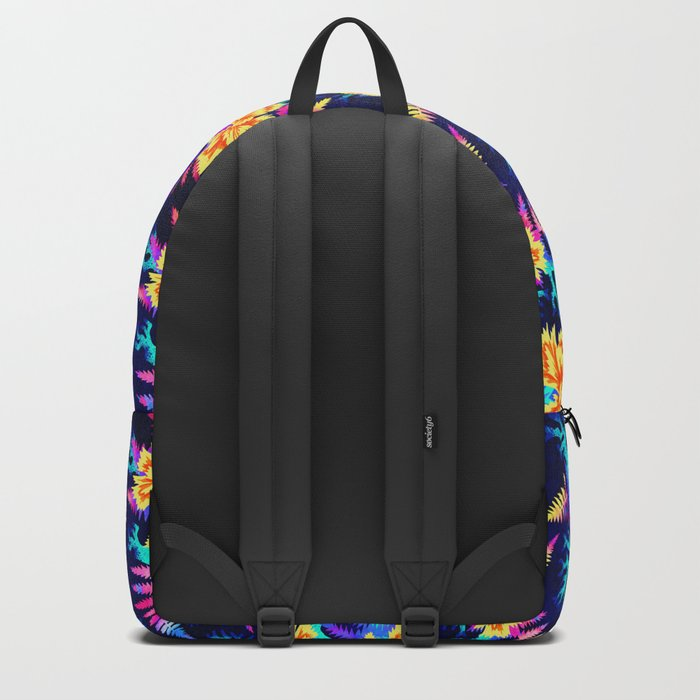Coral Carnation - Yellow/Blue Backpack