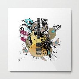 Grunge modern guitar Metal Print