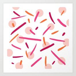 Raspberry & Pink Art Print