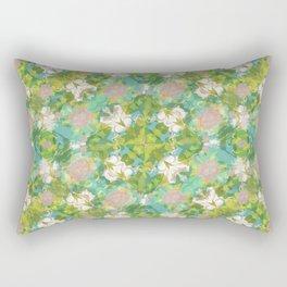 Vintage Floral Print Pattern Rectangular Pillow