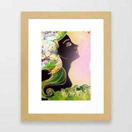 Caballos galopan Framed Art Print
