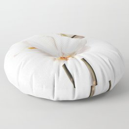 White Orchid Floor Pillow