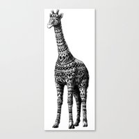 ornate Canvas Prints featuring Ornate Giraffe by BIOWORKZ