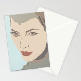 Angelina Jolie from Maleficent movie illustration Stationery Cards