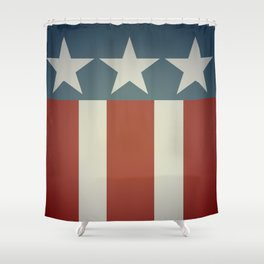 Three Starred Spangle Banner Shower Curtain