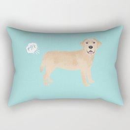 Yellow Lab funny fart dog breed gifts labrador retrievers Rectangular Pillow