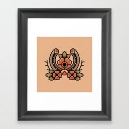 Horseshoe Tattoo Framed Art Print