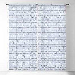 White Brick Wall Blackout Curtain