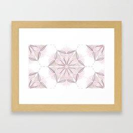 Pink Mandala Art Pattern Framed Art Print