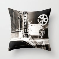 theater Throw Pillows featuring Turnage Theater by Justin Alan Casey