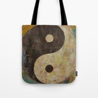 yin yang Tote Bags featuring Yin Yang by Michael Creese