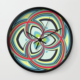 Spiral Rose Pattern A 3/4 Wall Clock