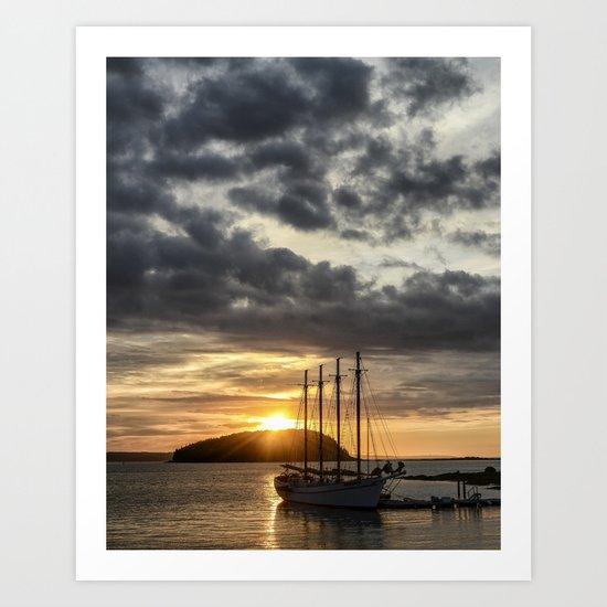 Sunrise Bar Harbor Maine Art Print